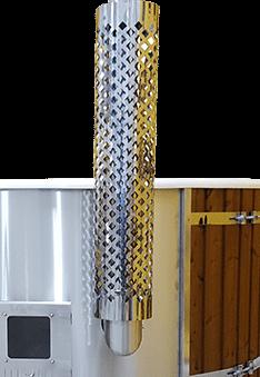 Ochranná mřížka komínu - zdarma k sudu Wellness s integrovanými kamny