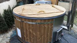 Horký koupací sud Wellness, integrovaný kotel, modřínové dřevo, jacuzzi, whirpool,